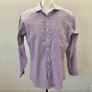 Brooks Brothers Purple Check Shirt Men's XL